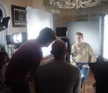 Rodaje producción audiovisual por España de la campaña Leer. Jefe prod.: Javiero